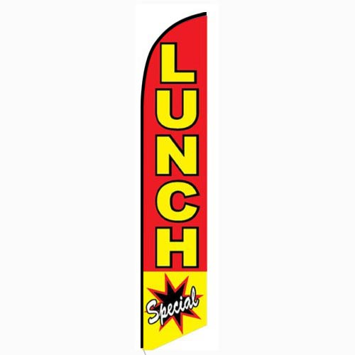 Lunch Special Feather Flag Banner