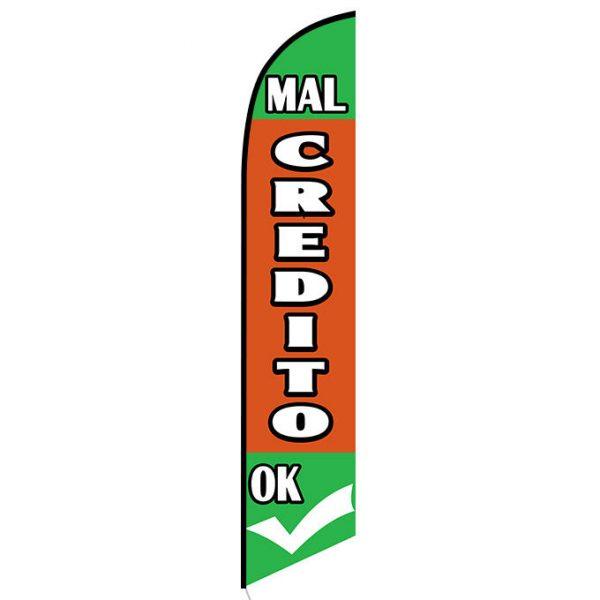 Mal Credito Okay Feather Flag Banner