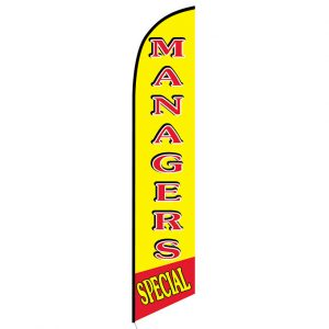 Managers Special Feather Flag Banner