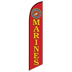 Marines Feather Flag Banner