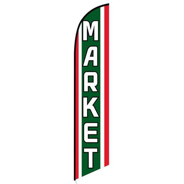 Market Feather Flag Banner