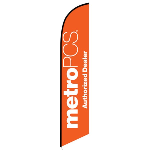 MetroPCS Authorized Dealer orange Feather Flag Banner