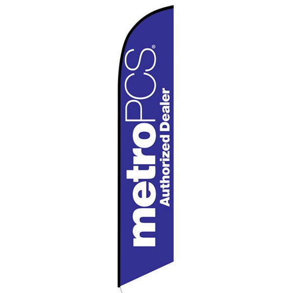 MetroPCS Authorized Dealer purple Feather Flag Banner