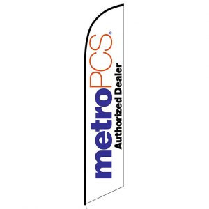 MetroPCS Authorized Dealer white Feather Flag Banner