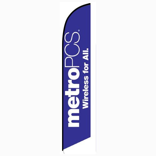 MetroPCS Wireless for All purple Feather Flag Banner