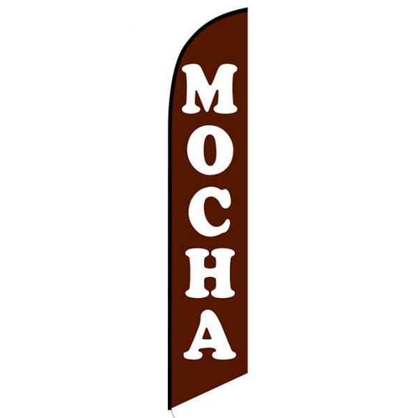 Mocha Feather Flag Banner