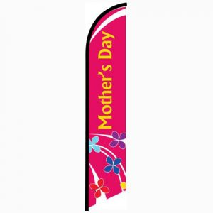 Mothers Day Feather Flag Banner