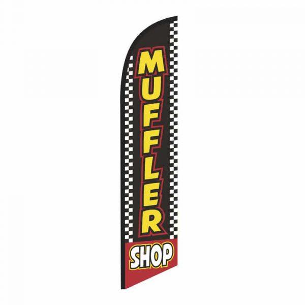 Muffler Shop Feather Flag Banner