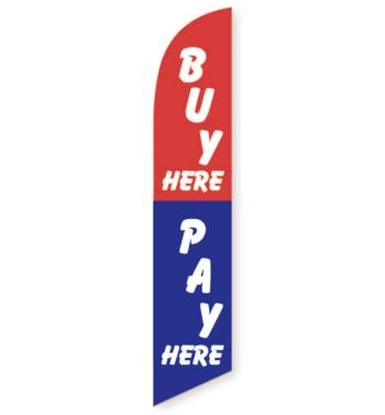 Buy Here Pay Here Feather Flag Banner