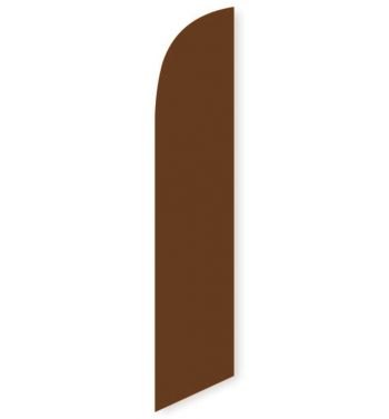 Solid Brown Colored Feather Banner Flag