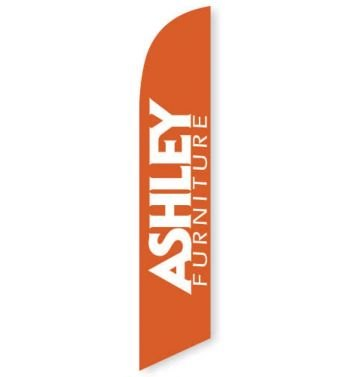Ashley Furniture (Orange) Feather Flag Banner