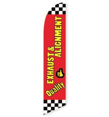 Quality Exhaust and Alignment Feather Flag Banner