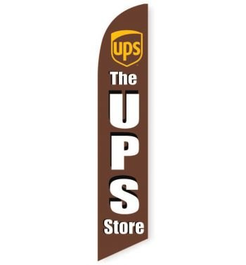 The UPS Store Feather Flag Banner