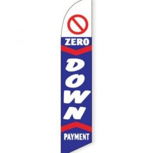 $0 Down Payment (Blue) Feather Flag Banner