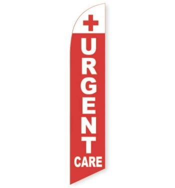 Urgent Care (Red) Feather Flag Banner