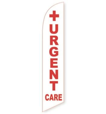 Urgent Care (White) Feather Flag Banner