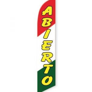 Abierto Feather Flag Banner