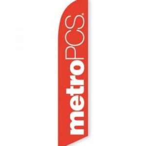 MetroPCS Orange Feather Flag Banner