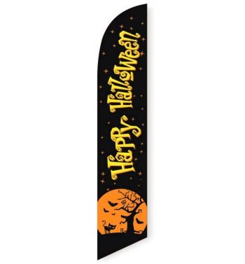 Happy Halloween Feather Flag Banner
