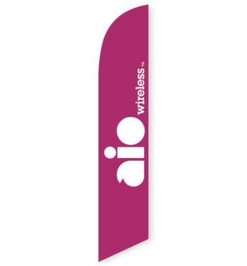 AIO Wireless Feather Flag Banner