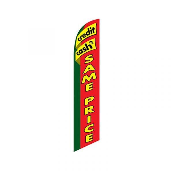 Credit Cash Same Price Feather Flag Banner
