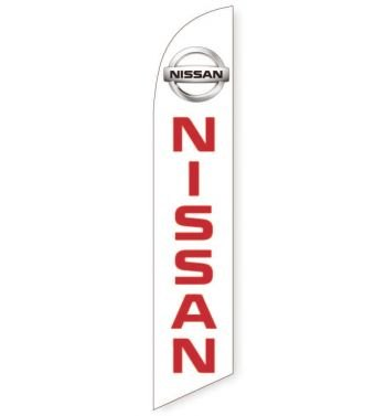 Nissan 2015 (White) Feather Flag Banner