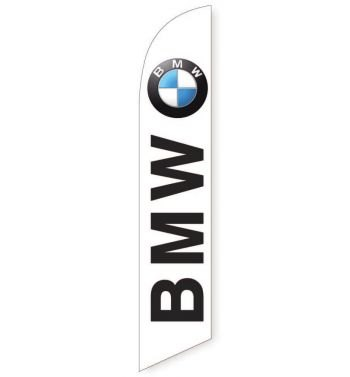 BMW (White) Feather Flag Banner