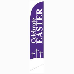 Celebrate Easter Feather Flag Banner for Church