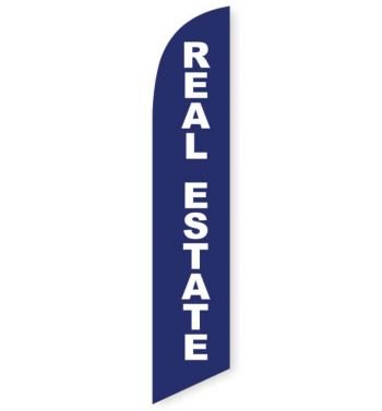 Real Estate Feather Flag Banner