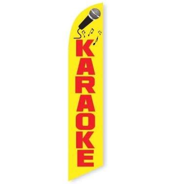 Karaoke Feather Flag Banner