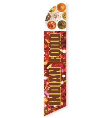 Indian Food Feather Flag Banner