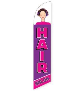 Hair Salon purple Feather Flag Banner