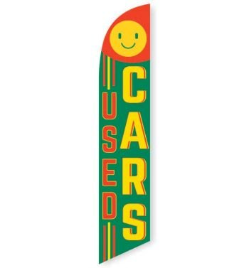 Used Cars (Smile) Feather Flag Banner