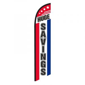 Huge Savings Feather Flag Banner