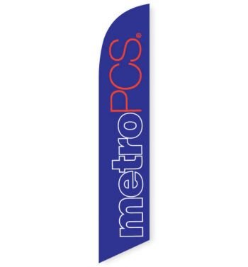 MetroPCS Purple Feather Flag Banner
