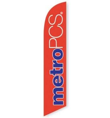 MetroPCS Orange Feather Flag Banner