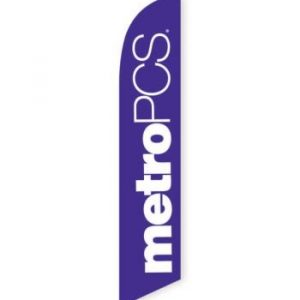 MetroPCS Purple Feather Flag Banner (Copy)