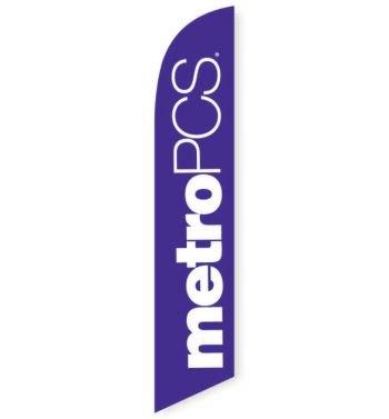 MetroPCS Purple Feather Flag Banner (Copy)