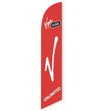 Virgin Mobile Feather Flag Banner