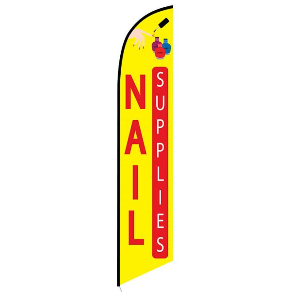Nail Supplies Feather Flag Banner