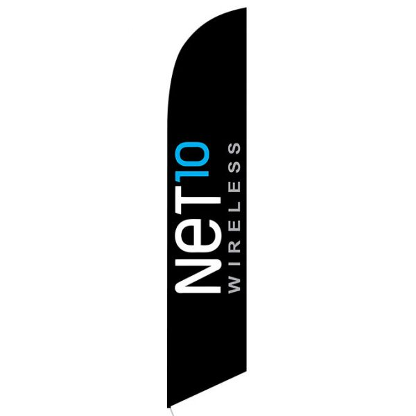 Net10 Wireless black Feather Flag Banner