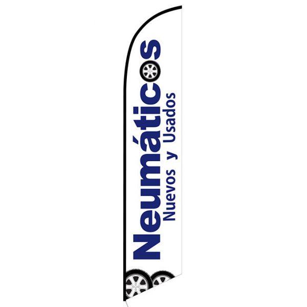 Neumaticos Nuevos y Usados Feather Flag Banner
