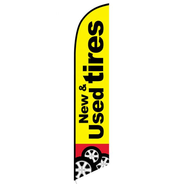 New and Used Tires Feather Flag Banner