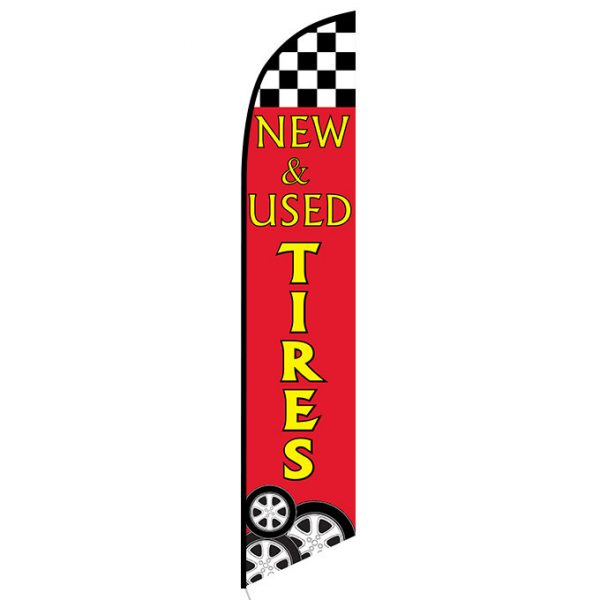 New and Used Tires swooper flag