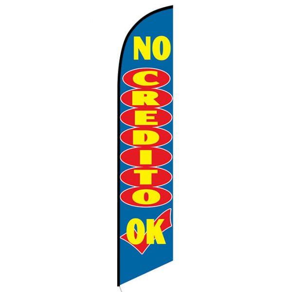 No Credito OK Feather Flag Banner