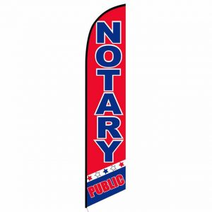 Notary Public Feather Flag Banner
