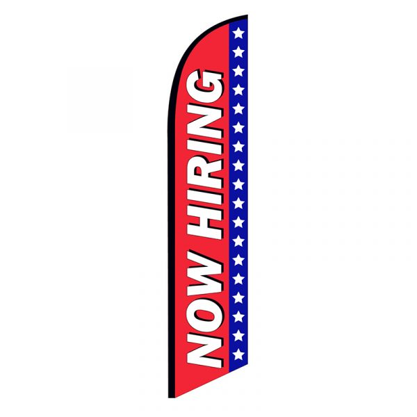 Now Hiring Feather Flag Banner Patriotic
