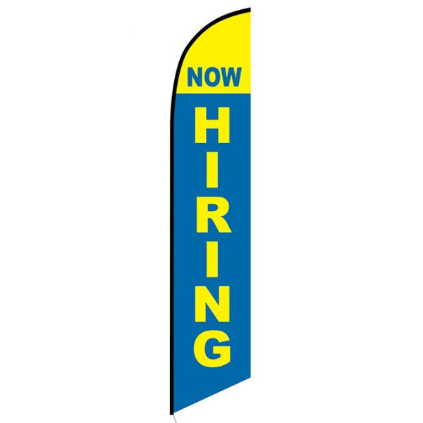 Now Hiring Feather Flag Banner