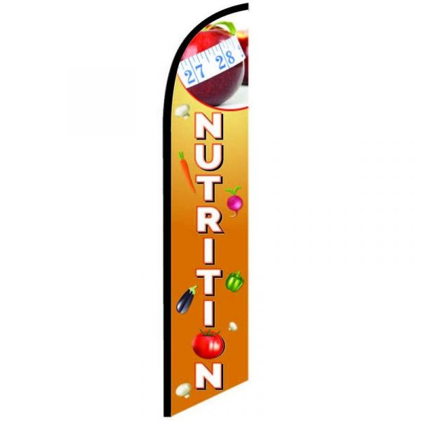 Nutrition Feather Flag Banner