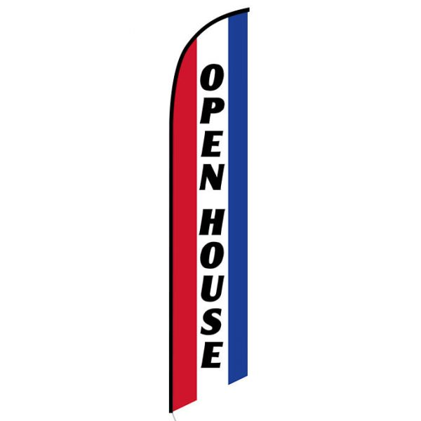 Open House Feather Flag Banner